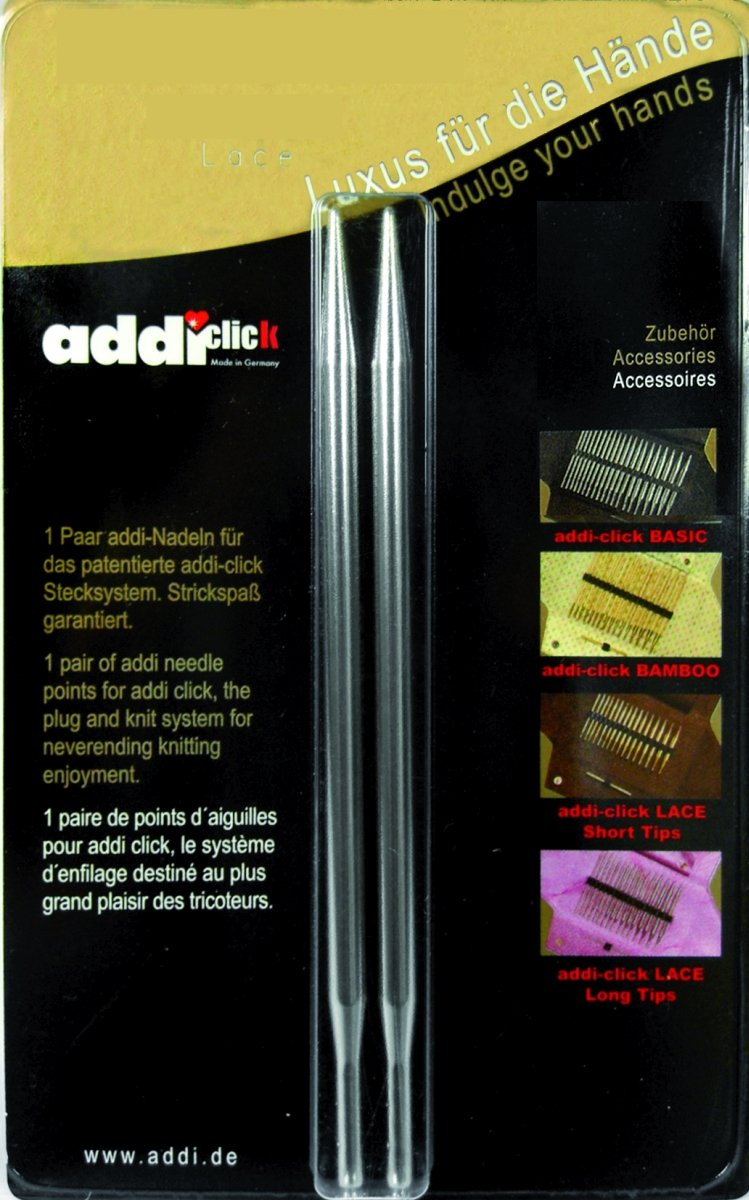 addi Click Interchangeable Knitting Needle Tips Standard Rocket (Long) Lace Set 5 in. (13cm) US 10.75 (7.0mm)