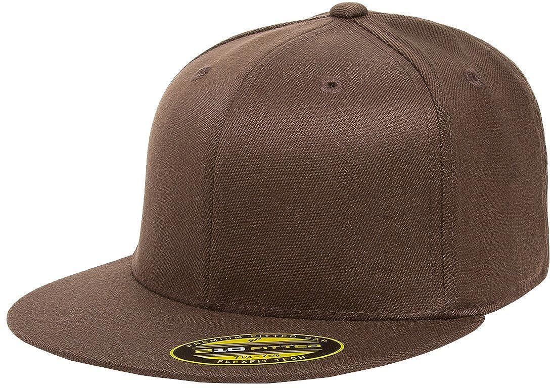 5f1bc2d8ac6a1 Flexfit Premium 210 Fitted Flat Brim Baseball Hat w THP No Sweat Headliner  Bundle Pack at Amazon Men s Clothing store