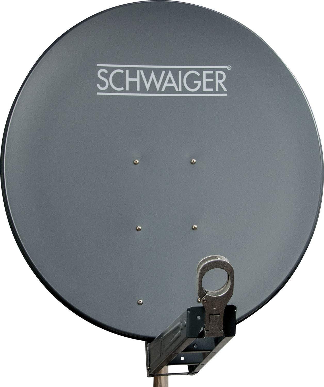 Schwaiger SPI085PA011 - Antena parabólica offset (aluminio, 85 cm), color antracita (importado)