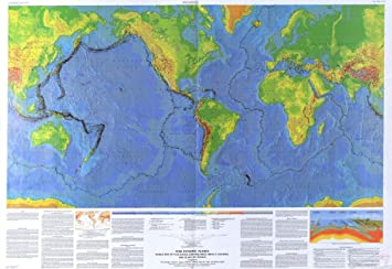 Amazon this dynamic planet world map of volcanoes this dynamic planet world map of volcanoes earthquakes impact craters an gumiabroncs Images