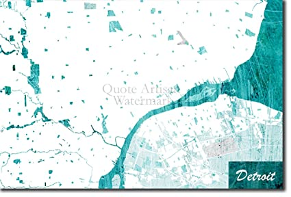 Detroit In Usa Map.Amazon Com Introspective Chameleon Detroit Michigan Usa Original