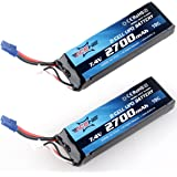 Crazepony 2pcs Hubsan H501S X4 Lipo Battery 2700mAh 7.4V 10C EC2 Connector