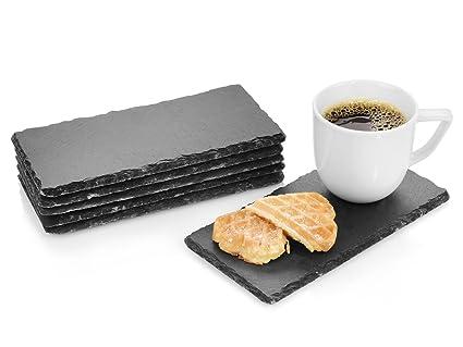 Set de bandejas de pizarra Biscuit de Sänger, de 6 piezas, 20