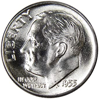 2010-P ROOSEVELT DIME BU OUT OF BANK ROLLS US COIN