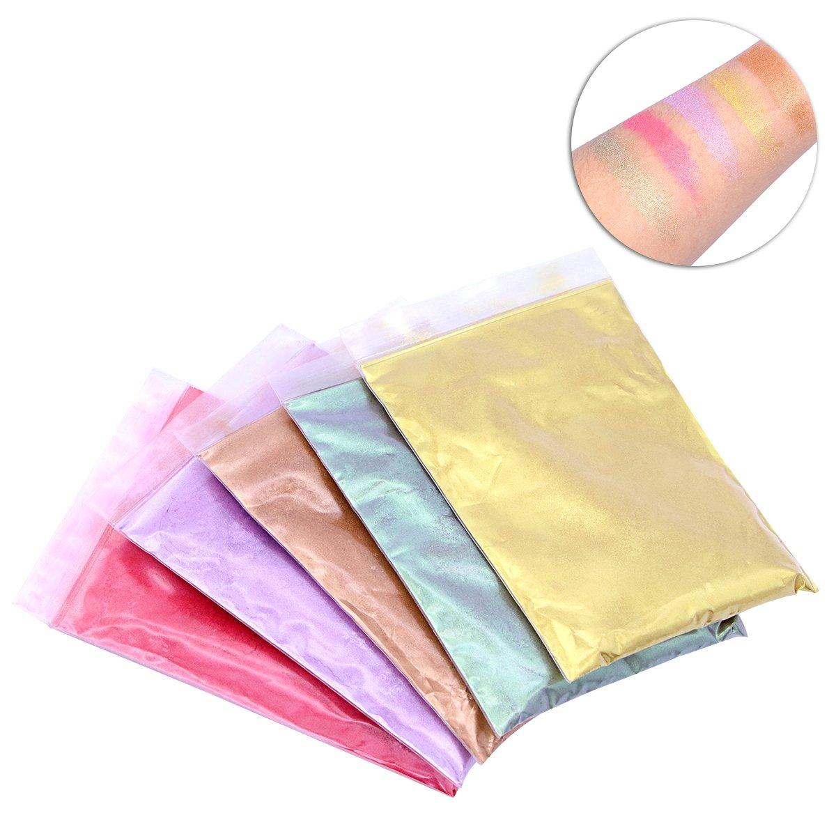 Trucco minerale Ultnice pigmenti in polvere per sapone candela che fa ombretto rossetto 5PCS
