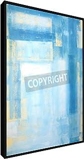 weewado Carollynn TICE - Teal e Astratta Giallo Arte Pittura - 20x30 cm - Belle Stampe su Tela - Arte della Parete - Poster, Pittura, Foto - Astratto
