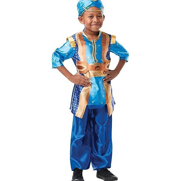 DISBACANAL Disfraz Genio Aladdín para niño - -, 3-4 años: Amazon ...