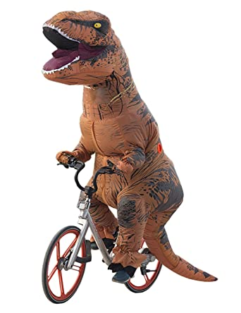 Lakerui Funny Inflatable Blow Up T-Rex Dinosaur Fancy Costumes for Adult Brown  sc 1 st  Amazon.com : funny dinosaur costume  - Germanpascual.Com