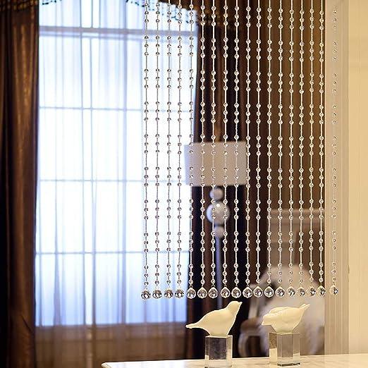 GuoWei-Cortinas de Cuentas Cristal Vaso Decoración Tabique Colgando Cuerdas Panel Puertas Salón Personalizable Múltiples Tamaños (Color : Claro, Tamaño : 20 strings-60cmx150cm): Amazon.es: Hogar