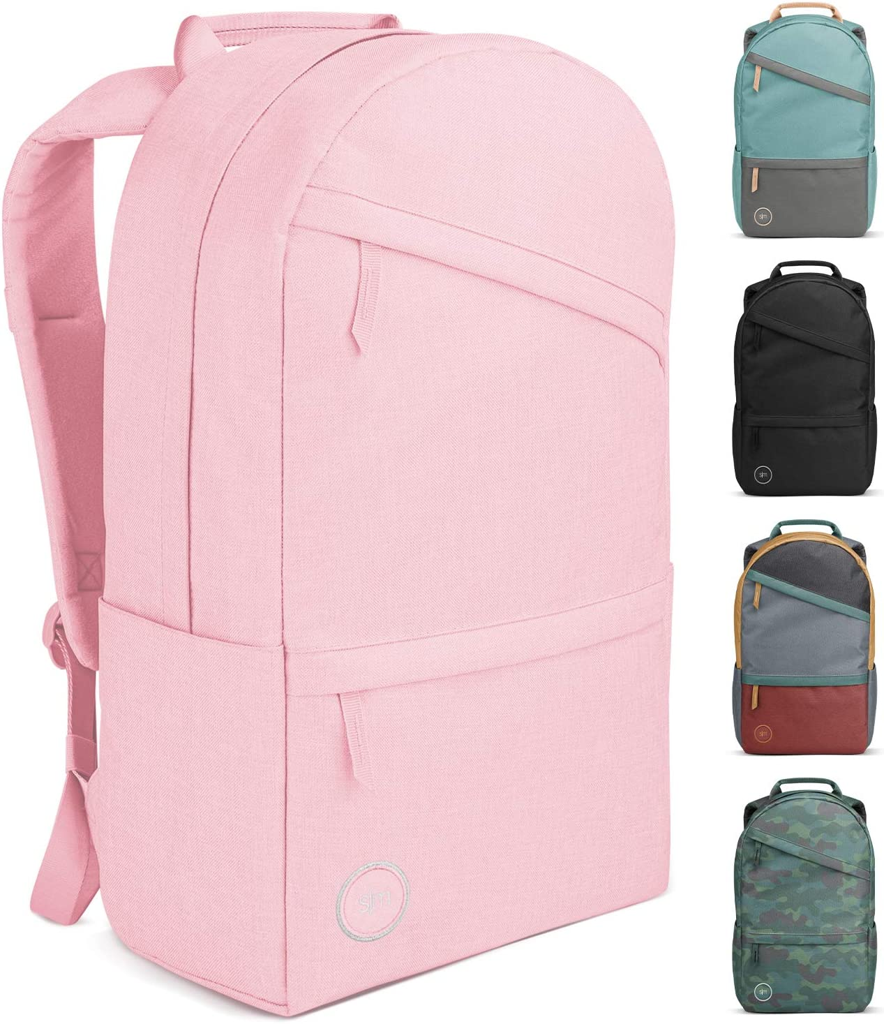 Simple Modern Legacy Backpack with Laptop Compartment Sleeve - 25L Travel Bag for Men & Women College Work School -Blush