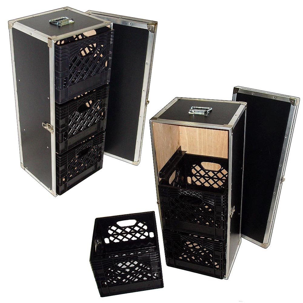Drawer Workbox - 3 Milk Crate Drawer ATA Style Case w/Dolly Wheels Roadie Products Inc.