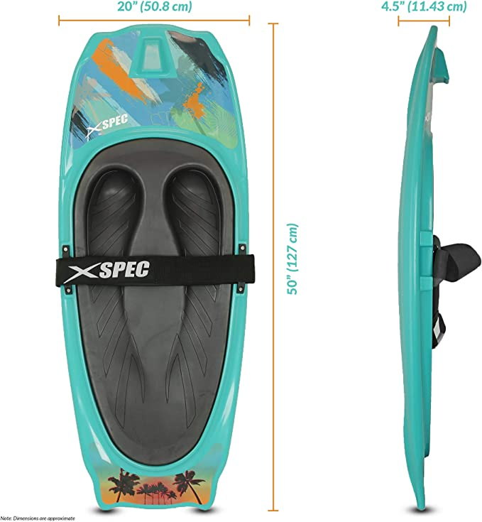 Aqua Xspec Kneeboard with Hook for Knee Surfing Boating Waterboarding