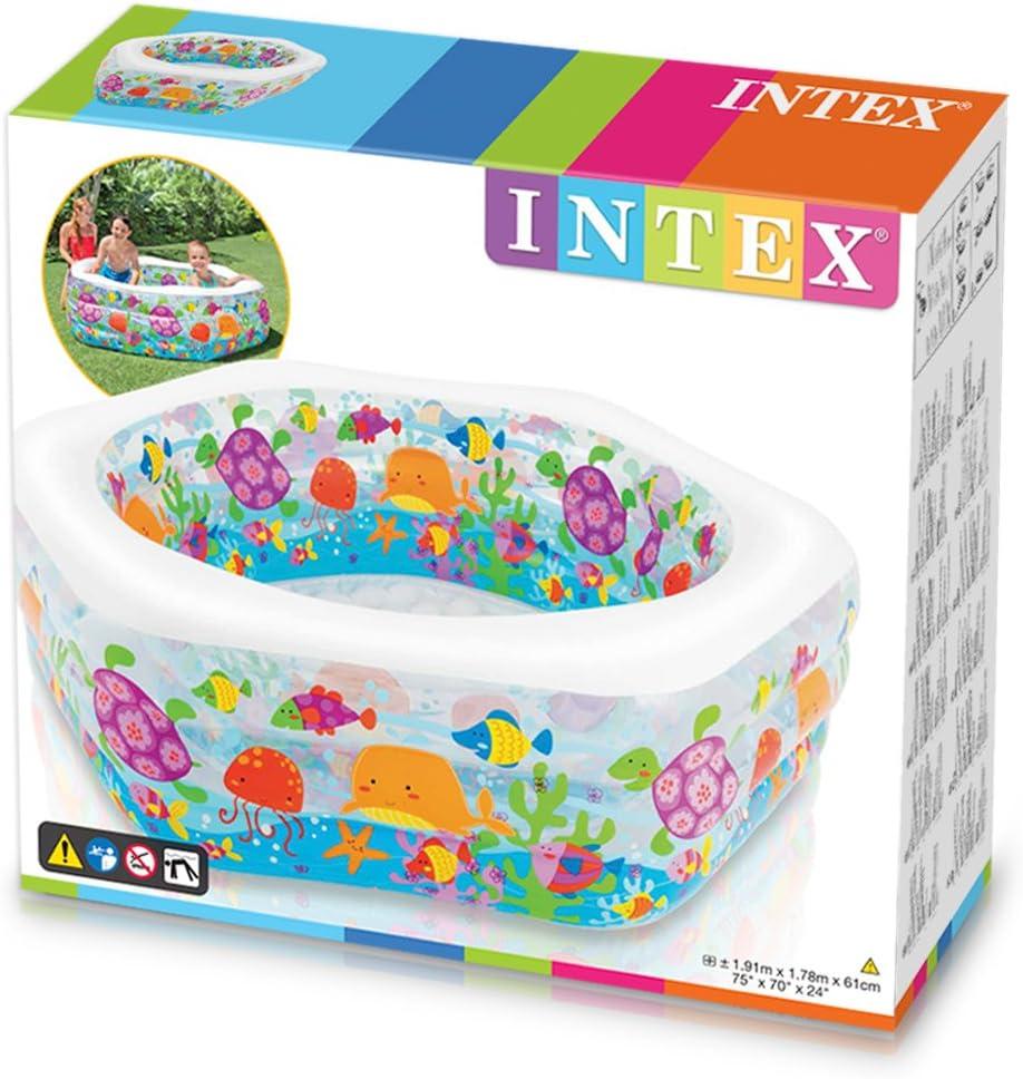 Intex 56493NP - Piscina hinchable hexagonal 191 x 178 x 61 cm, 510 ...