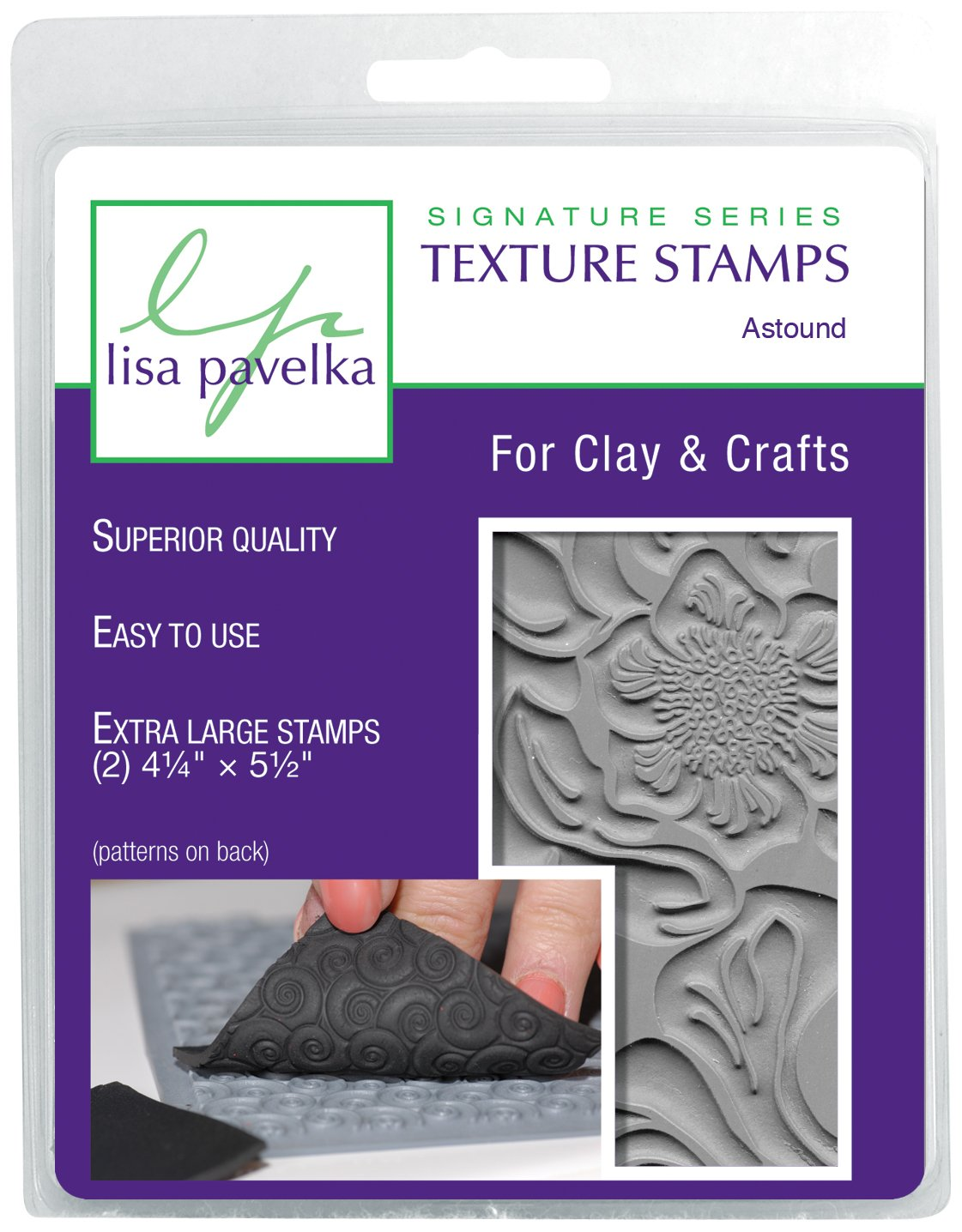 JHB International Inc Lisa Pavelka 327092 Texture Stamp Kit Astound