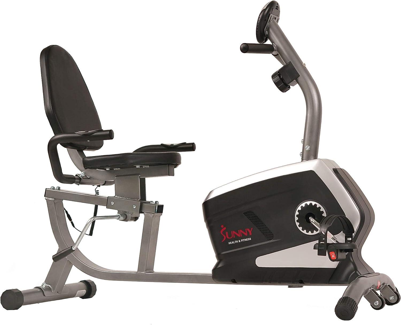 Schwarz Erwachsene SF-RB4616 Hometrainer Fahrrad Einheitsgr/ö/ße Sunny Health /& Fitness Unisex/