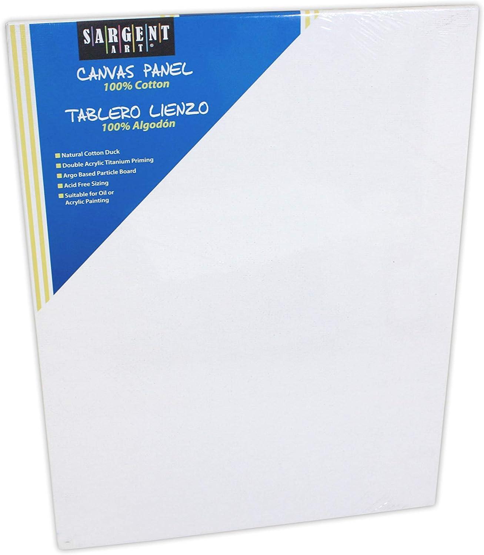 100/% Cotton Sargent Art 90-4001 9x12-Inch Canvas Pad