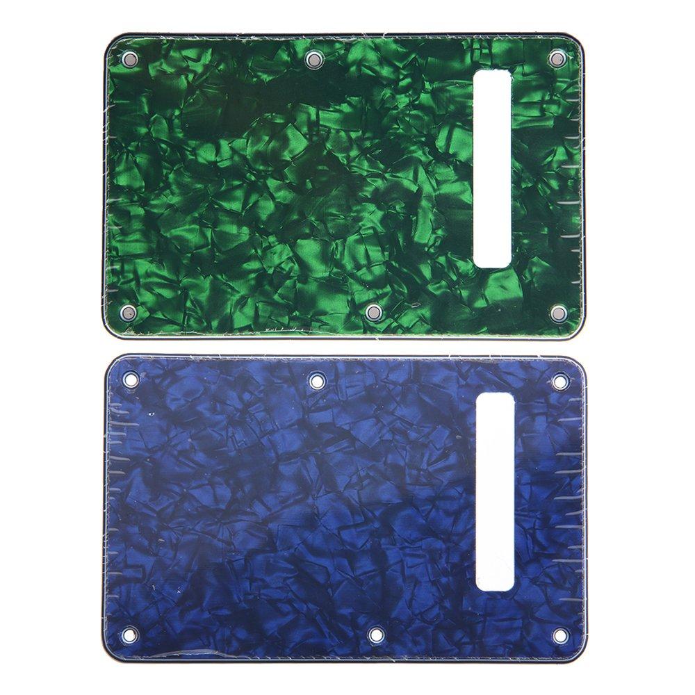 Kmise OT0126 2ピース ギター トレモロ/トランプ カバー 3層 フェンダー ストラット 交換用 ブルー/グリーン パール   B00VR9X3VQ