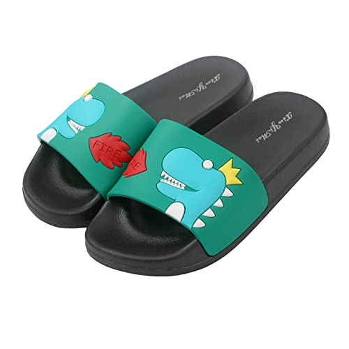 429e7d302 Amazon.com   Anddyam Kids Family Household Sandals Anti-Slip Indoor Outdoor  Home Slippers for Girls and Boys (US Little Kid (5-6 Years), Green dinosa)    ...