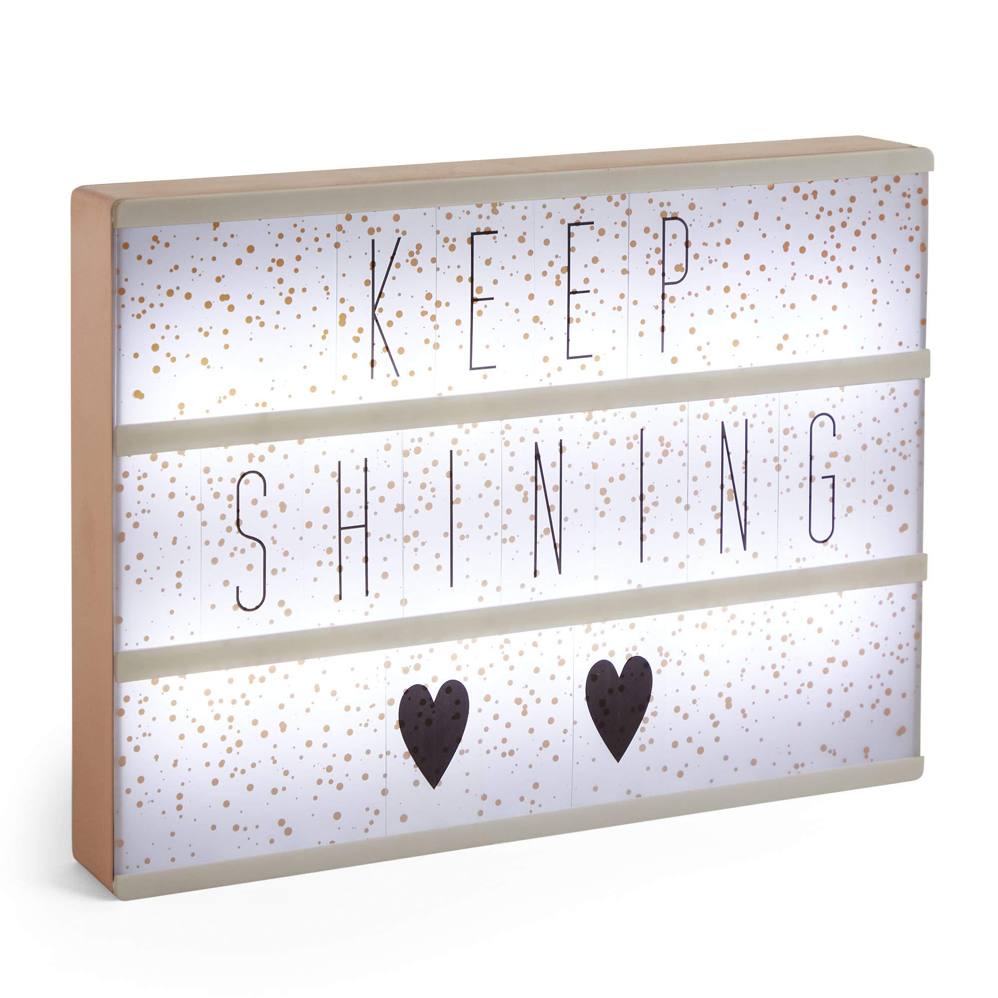 Beautify LED Lightbox – Customisable Light Up Letter Message Box Rose Gold - Christmas Gift - Gifts for Her - Secret Santa Gift