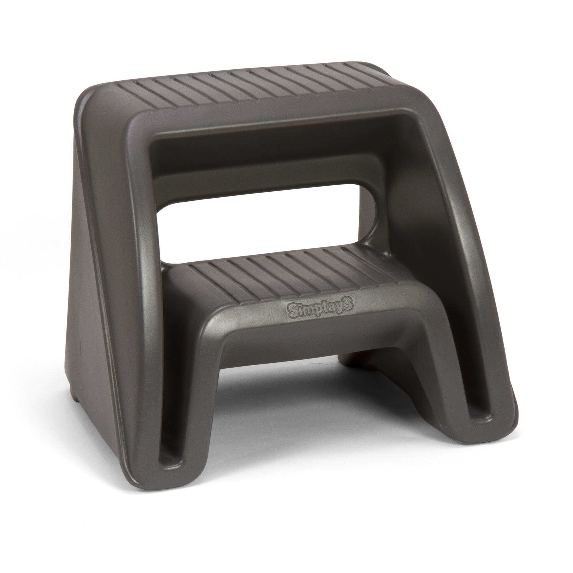 Simplay3 Handy Home 2-Step Plastic Stool 16 in. - Gray by Simplay3