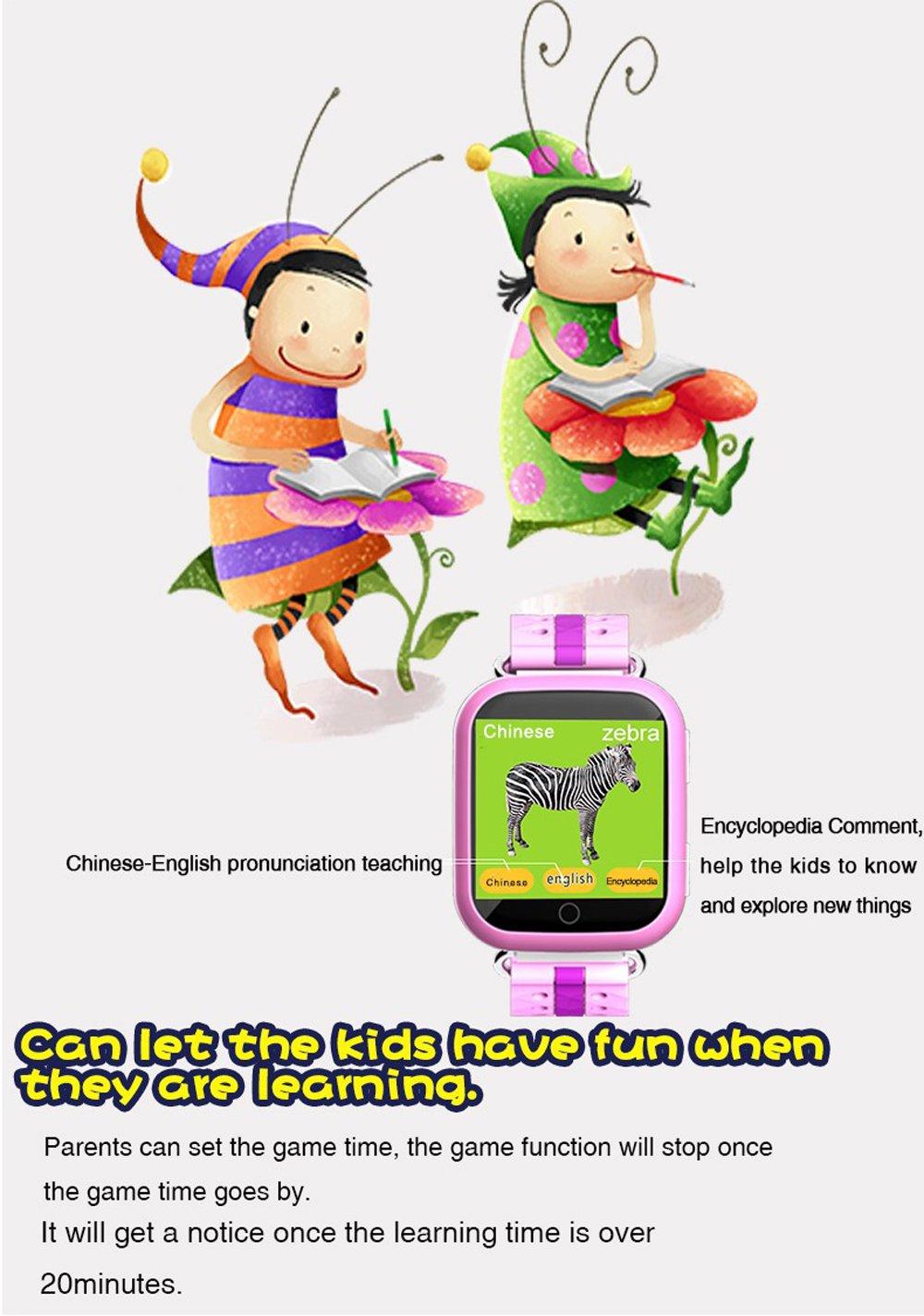 Amazon.com: Niños inteligente reloj teléfono con WiFi GPS ...