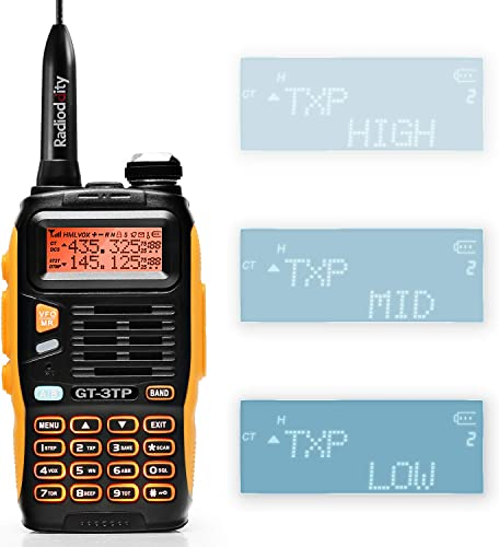 BAOFENG GT-3TP Mark-III 8W 4W 1W UHF VHF Dual Band Two Way Radio Handheld Transceiver, with Car Charger