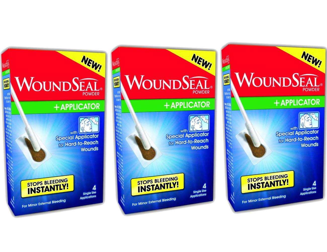 WoundSeal Powder and Applicators Kit (3 Kits) by Biolife, LLC.