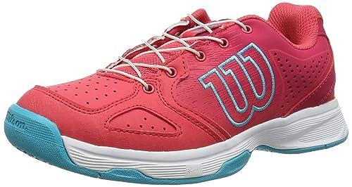 Wilson Kaos Junior QL, Zapatilla de Tenis, para Todo Tipo de Superficies, tenistas de Cualquier Nivel para niños, Rosa/Blanco/Azul, número 36 EU