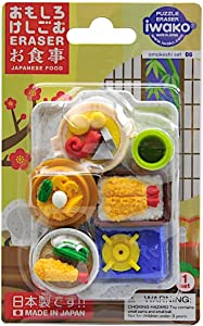 Iwako Japanese Foods Eraser Set (38336)