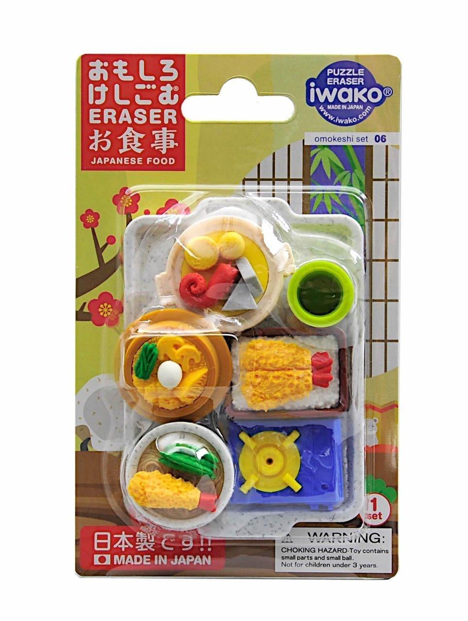 IWAKO Japanese Foods Eraser Set BC USA (Iwako) Toys 38336