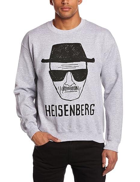 Coole-Fun-T-Shirts Sweatshirt Heisenberg Zeichnung-Breaking Bad Crew Neck, Sudadera para Hombre, gris XL: Amazon.es: Ropa y accesorios
