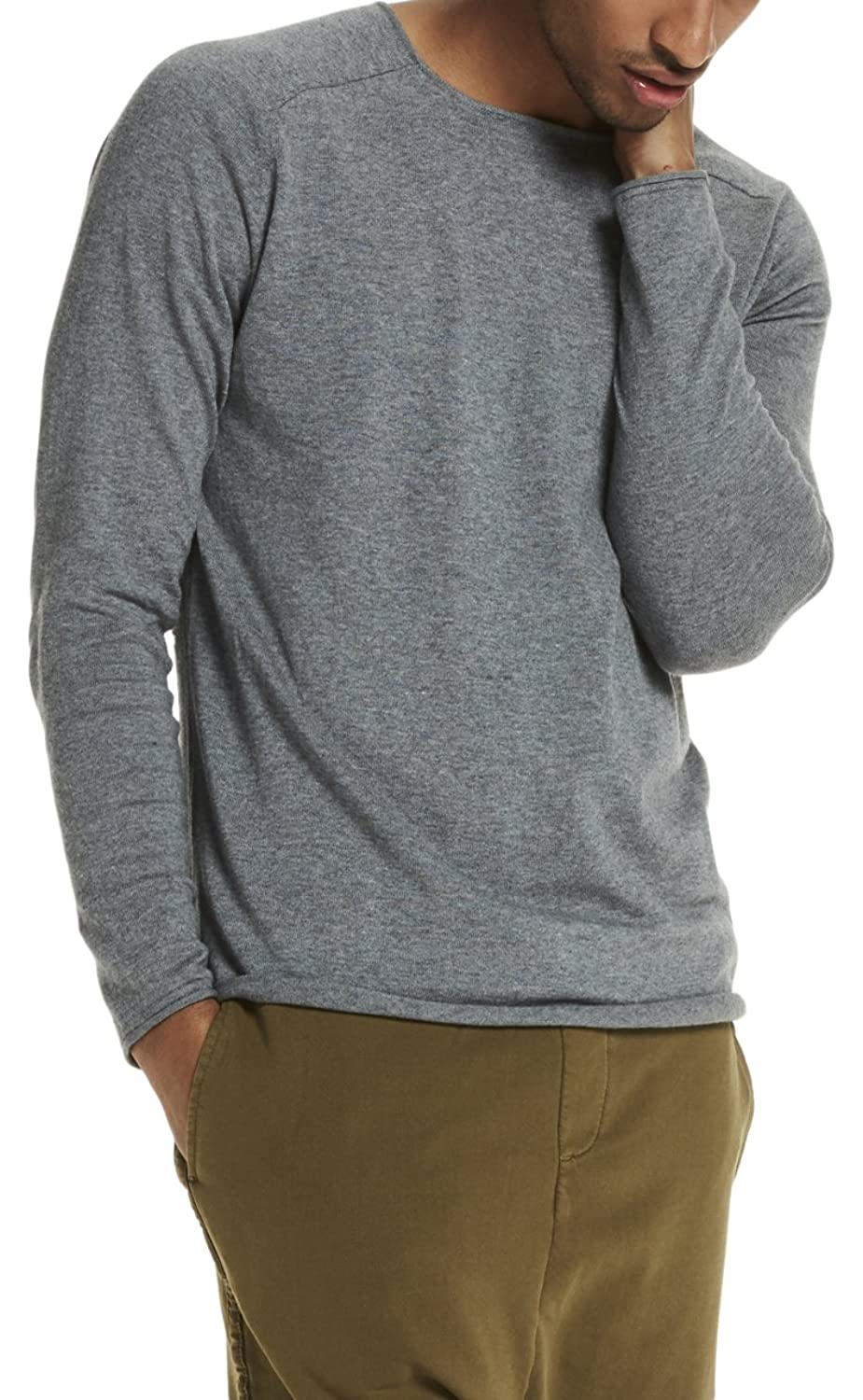 Scotch & Soda Herren Crewneck Pullover in Cashmere Blend Quality with Rolled Edge