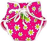 Kushies Swim Diaper, Fuchsia Daisy Print, Medium