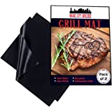 RCR Partners / Music City Grillerz: Last Grill Mats You Will ever NEED, Heavy Duty, 700 Degree, Perfect Thickness, Super Easy to Clean, Great for Charcoal, Gas, Smokers, Ovens & FDA Approved