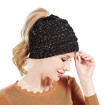 d3e7de528de4a Moonuy Hommes Femmes Baggy Chaud Crochet Hiver Laine Tricot Ski Bonnet  Crâne Slouchy Caps Chapeau Bonnet