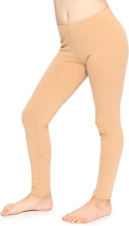 Girl's Cotton Footless Leggings | Stretchy | Size 2-14 | Made in The USA