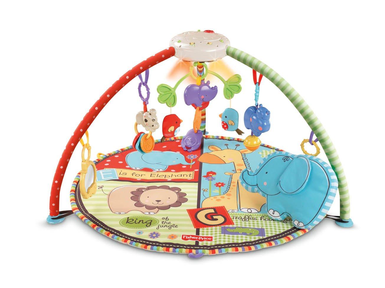 fisherprice luv u zoo deluxe musical mobile gym amazonca baby -