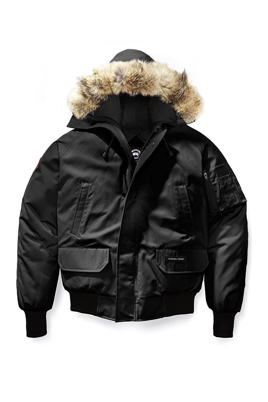 Canada gooses Men's Chilliwack Front-Zip Jacket with Fur Trimmed Hood Size XXL