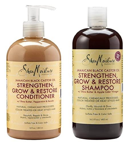 Shea Moisture Shampoo And Conditioner Set Jamaican Black