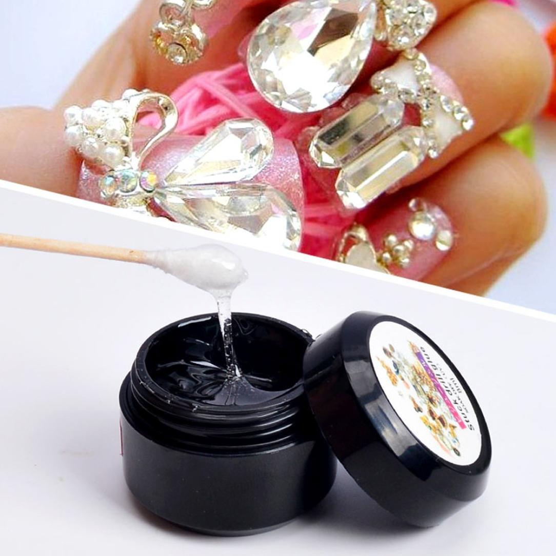 Nail Art Tool,Putars Women Portable Nail Art Faluse Nail Tips Professional Acrylic Beauty Rhinestones Mini Glue 8ml