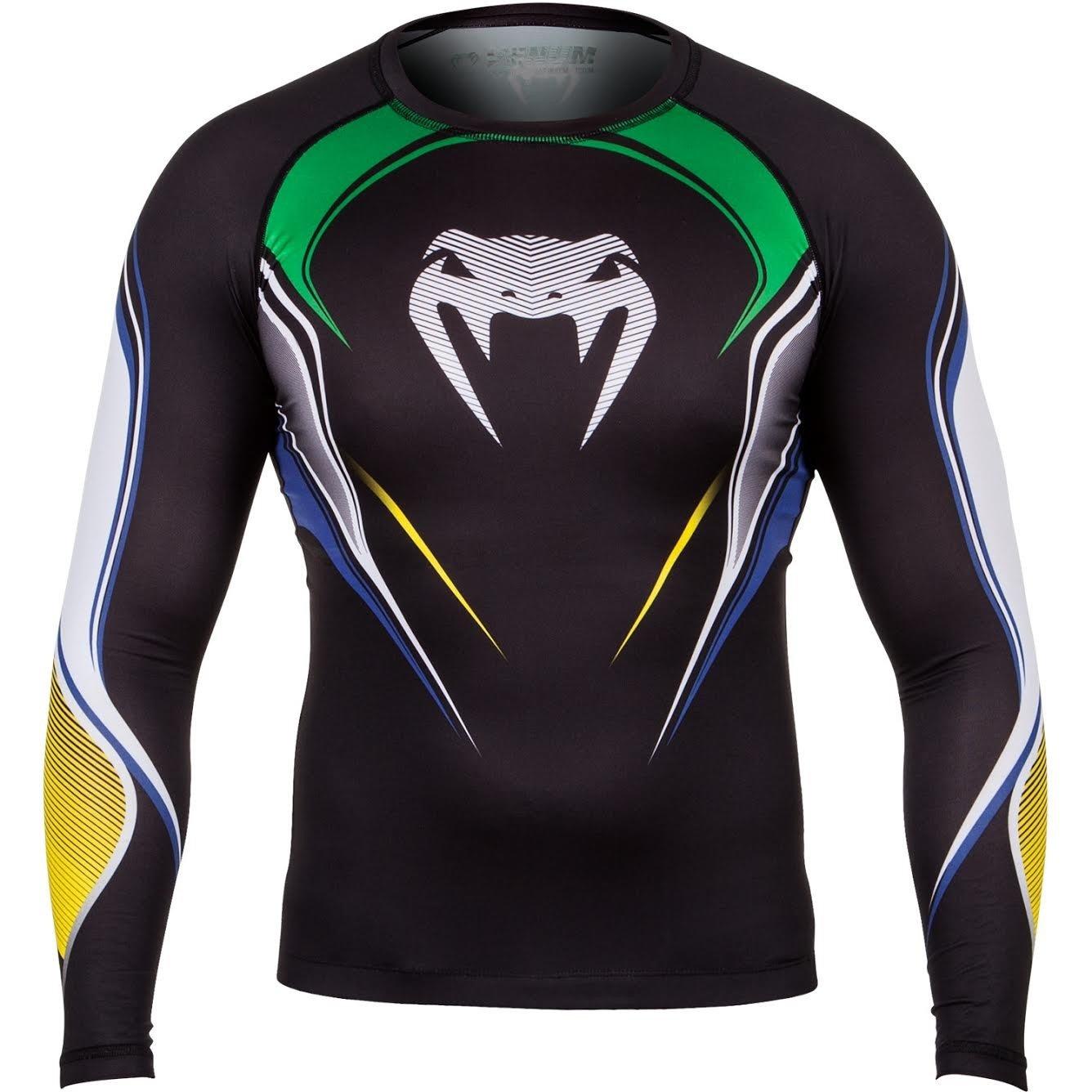 Venum Herren Kompression T-Shirt Brazilian Hero