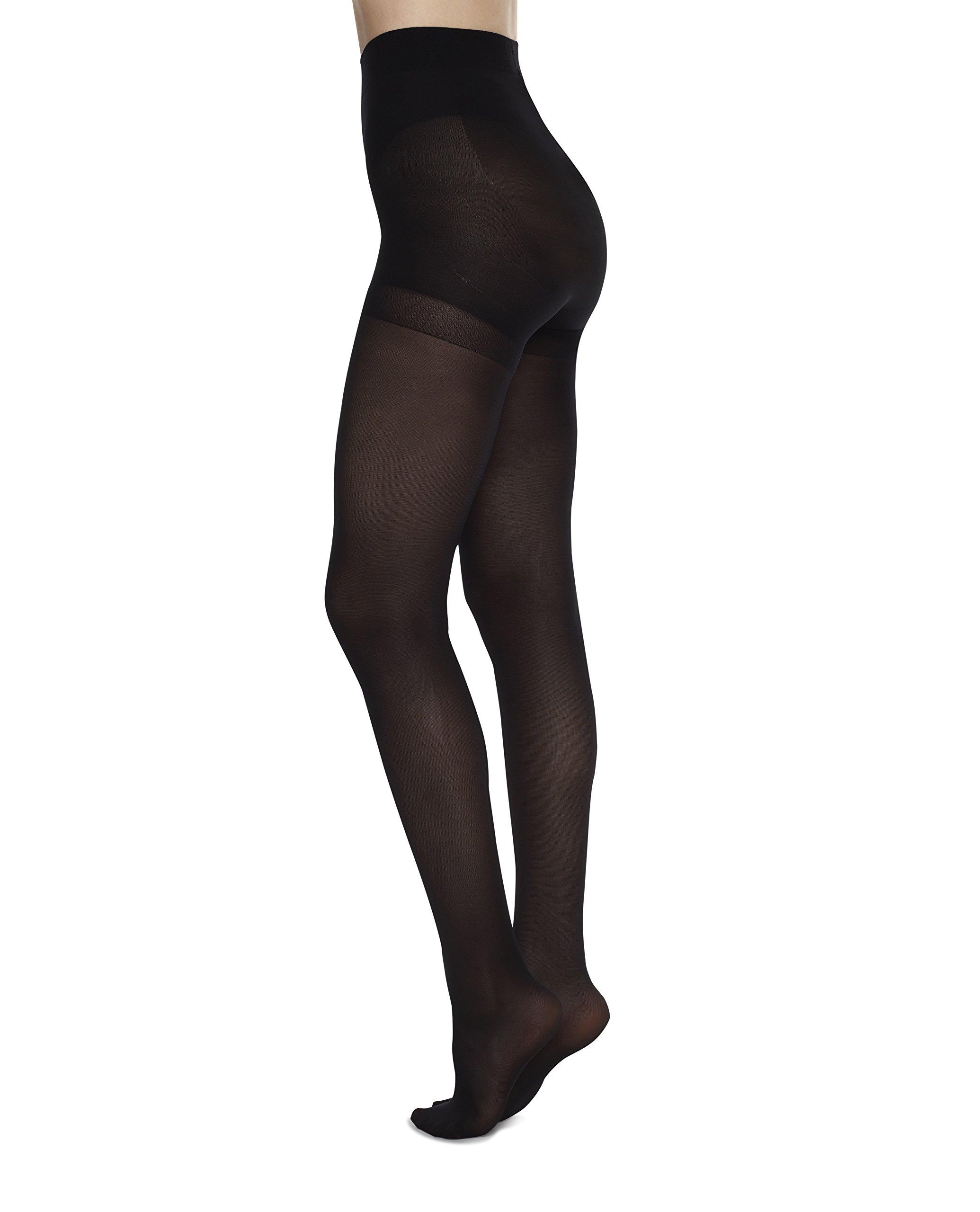 Swedish Stockings ANNA CONTROL TOP Black Pantyhose Nylons for Tummy