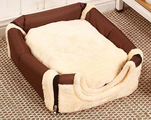 Casa acolchada suave 2 en 1 y sofá Camas antideslizantes del gato del perro, bolso casero Forma Lavable Perrito Interior Cuarto plegable portable del perro, ...