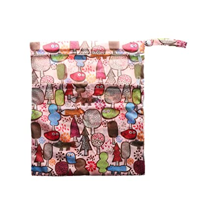 45d9c291e87610 Buy Prettyia Washable Reusable Cloth Nappy Wet Bag Waterproof Swim Sport  Travel Carry Bag Diaper Bag Baby Wet Nappy Bag - Magic Forest Online at Low  Prices ...