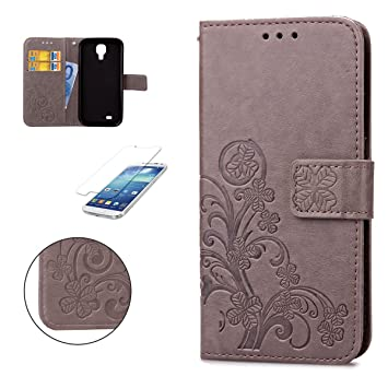 CaseHome Samsung Galaxy S4 Wallet Funda,En Relieve Carcasa PU Leather Cuero Suave Impresión Cover Con Flip Case TPU Gel Silicona,Cierre ...