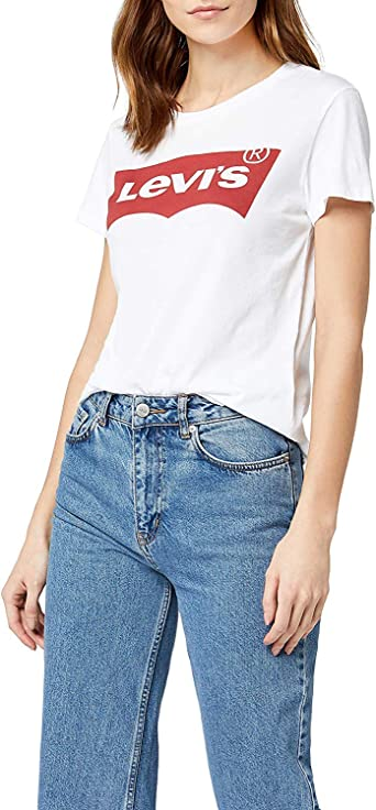 Levis The Perfect Tee, Camiseta, Mujer, Blanco (Batwing White Graphic 53), L: Amazon.es: Ropa y accesorios