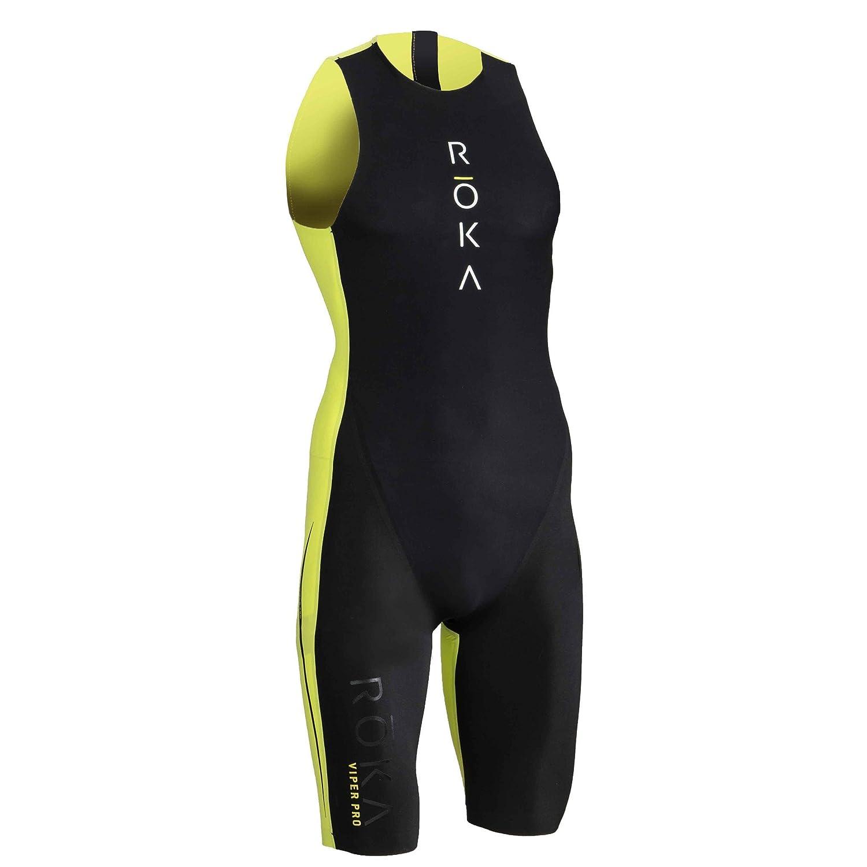 ROKA Men's Viper Pro Premium Hydrophobic Teflon Swimskin for Triathlon Swimming with Easy Removal