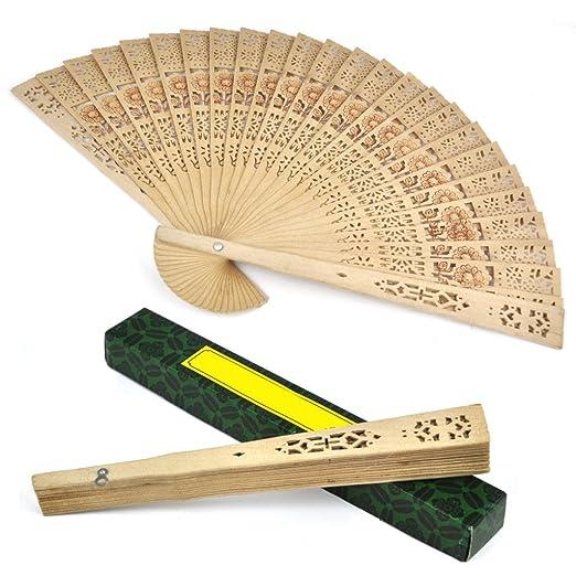 18 opinioni per SODIAL (R) Ventaglio in legno Sandalo da donna nozze / Compleanni feste