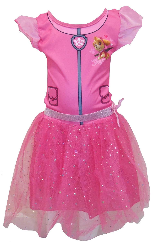 Paw Patrol Skye Girls Pink TuTu Party Dress Costume & Headband Set Nickelodeon 56909