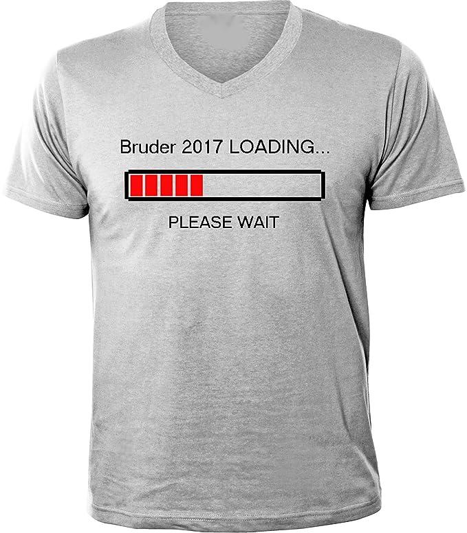 Mister Merchandise Herren Men V-Ausschnitt T-Shirt Bruder 2017 Loading Tee  Shirt Neck Bedruckt: Amazon.de: Bekleidung